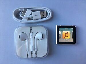 Apple Ipod Nano 6th Generation Silver 16gb Ebay