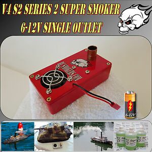 Super-Smoker-RC-Model-Boat-Tank-Train-Truck-Construction-6-12-Volt-V4-S2-NEW