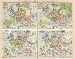 Cartina Storica Dell Europa.Dettagli Su B6266 Carte Storiche Dell Europa Carta Geografica Antica Del 1902 Old Map