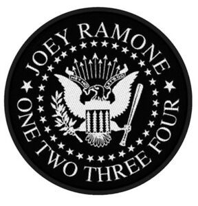 RAMONES-Seal-Joey-Ramone-Woven-Patch-Sew-On-Official-Band-Merch-Punk-New
