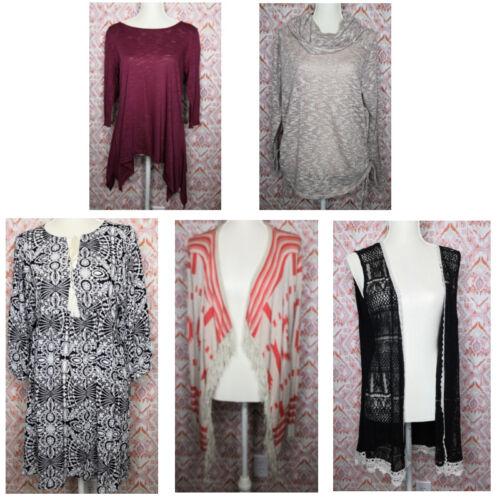 Small vest 5 Size Lot garderobe vest Women met Tuniek Umgee en met vest van vest xvpEW