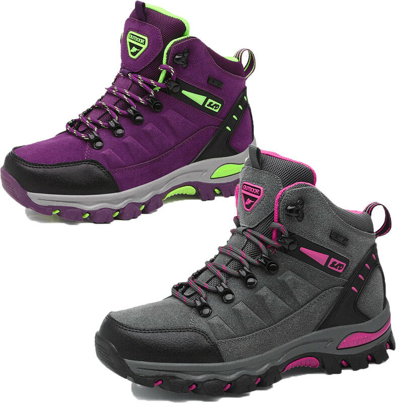 Walking Boots Women High Top Outdoor Waterproof Walking Trail Hiking Boots