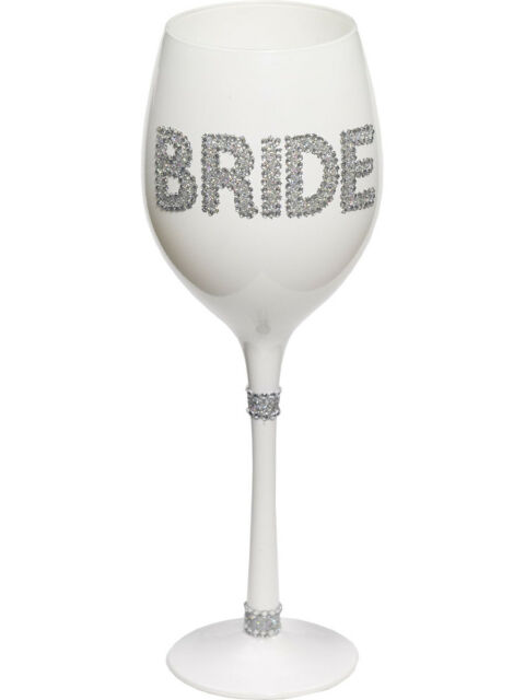 bachelorette party bridal shower just married bride glittered wine glass