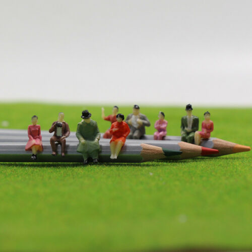 60pcs//120pcs All Seated 1:87 Painted Figures Passenger HO Scale Sitting People