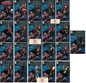 TONY STARK IRON MAN #1 COMPLETE 21 Variant Armor Cover SET! 2018