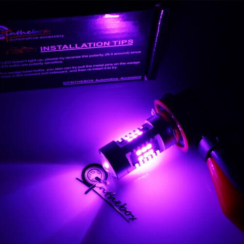 2x Pink Purple H11 H8 21 Samsung LED Bulbs For Driving Fog Lights DRL Brightness