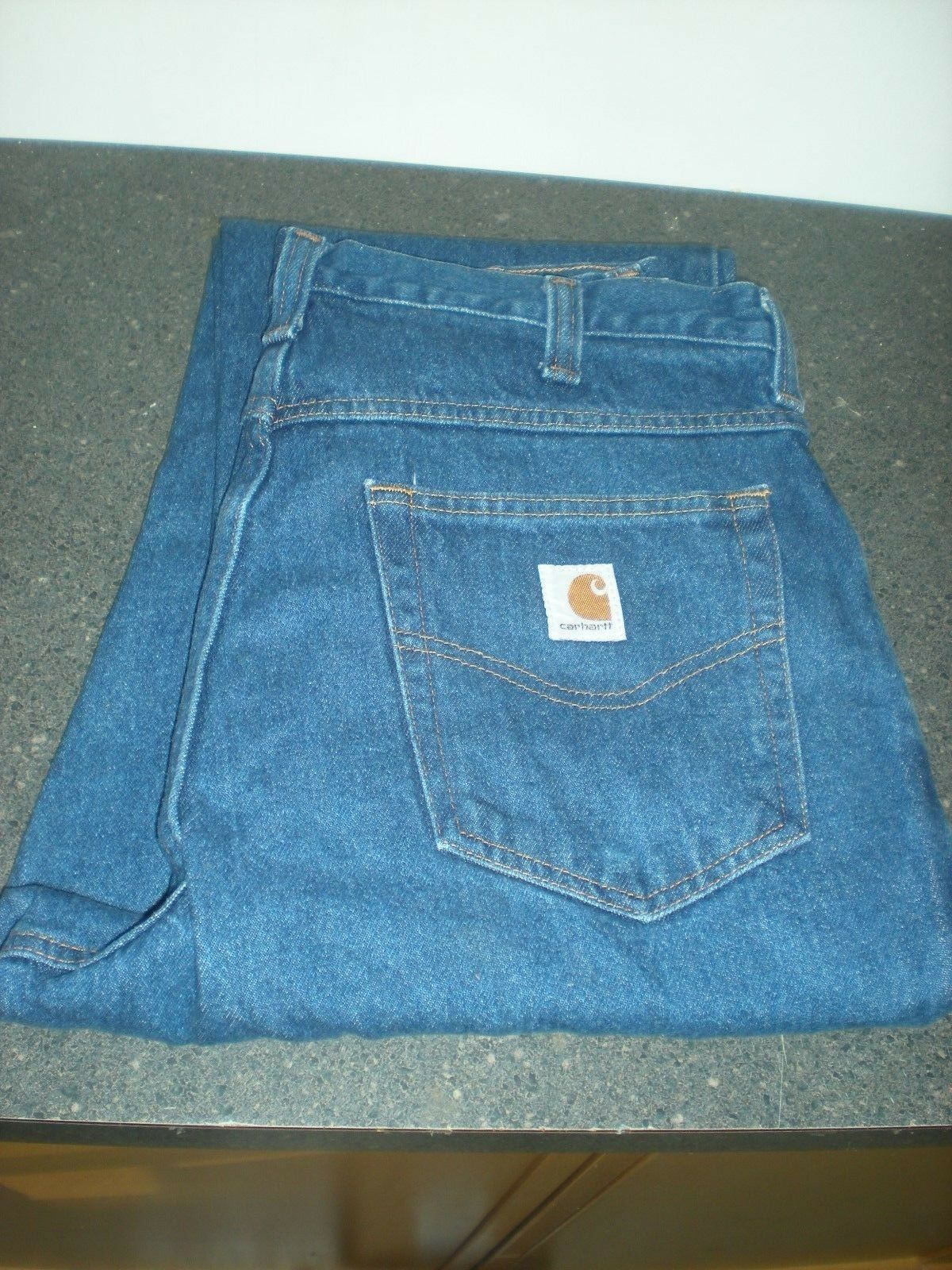 2 Carhartt Denim Relaxed Fit Work Jeans 381-83 Size 36