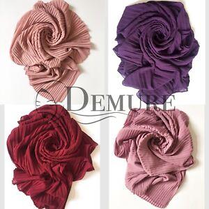 Chiffon-Pleated-Hijab-Scarf-High-Quality-Elegant-Shawl-Wrap-Sarong-Cape