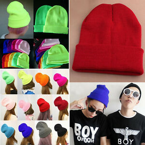9-Colors-Warm-Women-Men-Fancy-Acrylic-Knit-Wrap-Ski-Beanie-Cuff-Hats-Caps