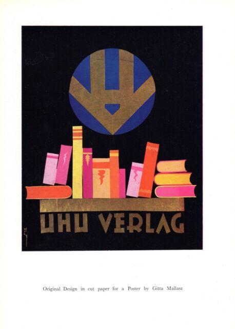 ADVERTISEMENT PRINT UHU VERLAG BY GITTA MALLASZ FROM 1927 COMMERCIAL ART
