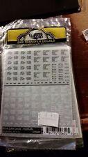 Woodland Scenics Dry Transfer Decals DT601 Box Car Data Roman NIP Black & White