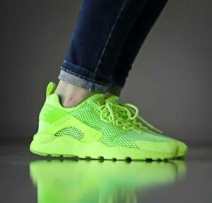 promo code 98934 98897 Details about Nike Air Huarache Run Ultra Breathe BR Sz 12 Women's Lime  Green Neon 833292-300