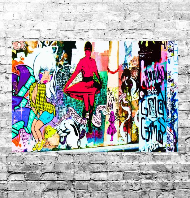 STUNNING ABSTRACT GRAFFITI POP ART CANVAS #31 GRAFFITI WALL ART CANVAS PICTURE