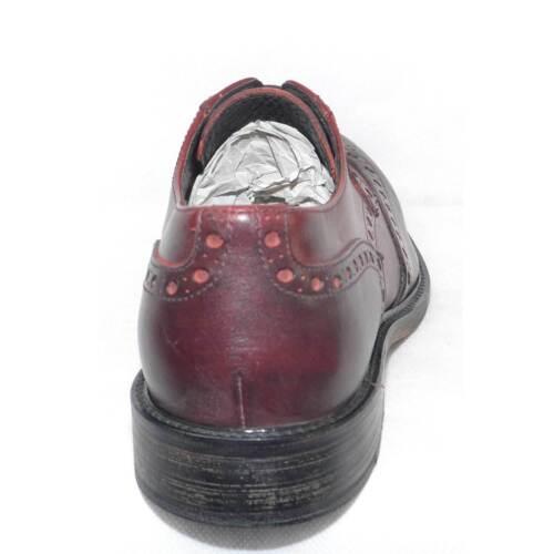 Cuoio Vintage Stile Spazzolato Fondo Scarpe Bordeaux Stringate Pelle Antiscivolo XqCwz