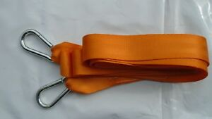 TOW ROPE / TOWING ROPE RECOVERY WITH 2 HEAVY DUTY CARABINER SHAKLES 8TON 4 METRE