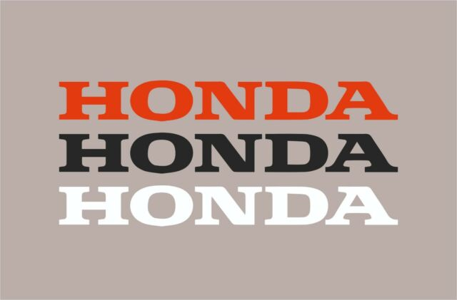 Honda logo Decal sticker motorcycle tank civic accord prelude crx red letters cm