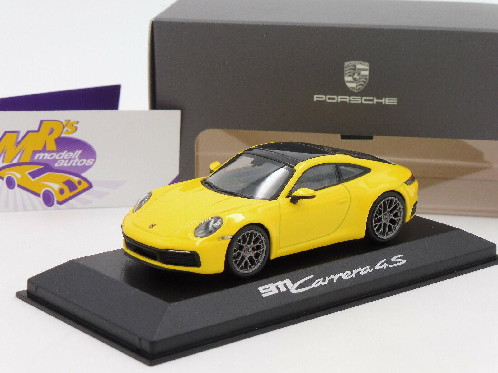 Minichamps PORSCHE 911Typ 902 Carrera 4S Baujahr 2019   speedyellow   1 43 NEU