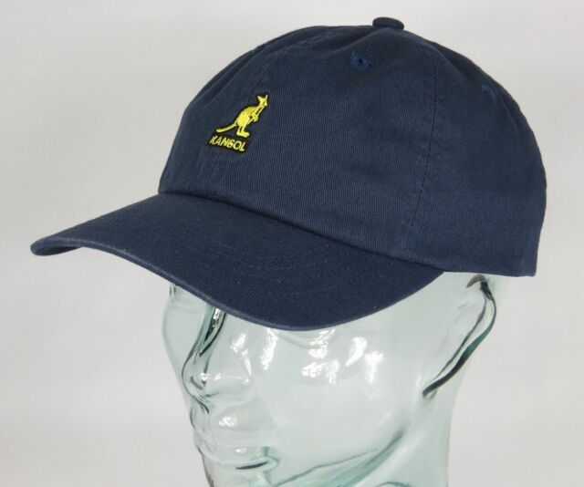 273f1418de9 Kangol Délavé Casquette Baseball Coton Bonnet Bleu Chapeau D Été Neuf