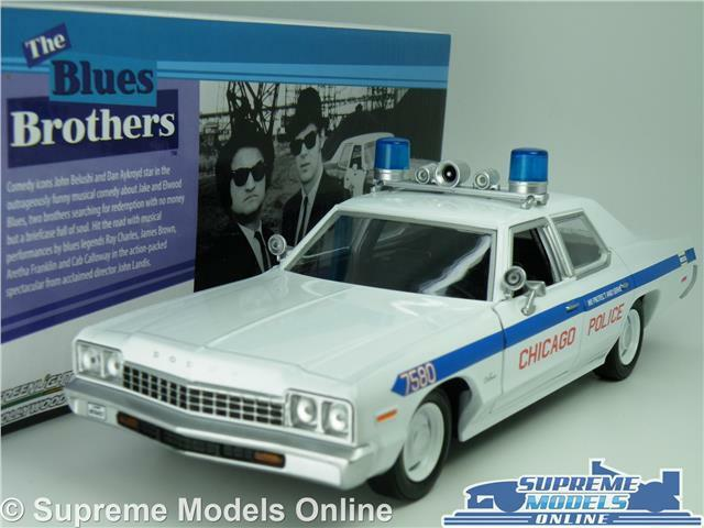DODGE MONACO MODEL POLICE CAR 1 24 SCALE THE blueES BredHERS LARGE GREENLIGHT K8
