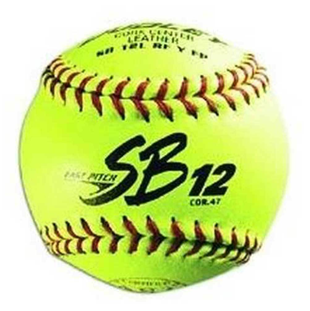 Dudley Sports 12  Leather Cover ASA Fastpitch Softball, 1 Dozen 4A311Y