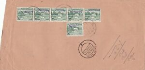 bangladesh overprints on pakistan early stamps cover ref 12823