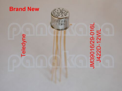 Teledyne JM39016//29-016L J422D-12WL DPDT Latching TO-5 Relay