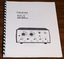 Wavetek Model 185 Instruction Manual 5mhz Linlog Sweep Generator
