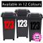 3-x-Wheelie-Bin-Maison-Chiffres-Autocollants-Wheely-Poubelle-Autocollant-Vinyle-Peel-amp-Stick miniature 1