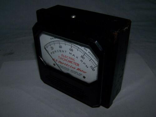 Electric tachometer US varidrive motor 250 rpm used