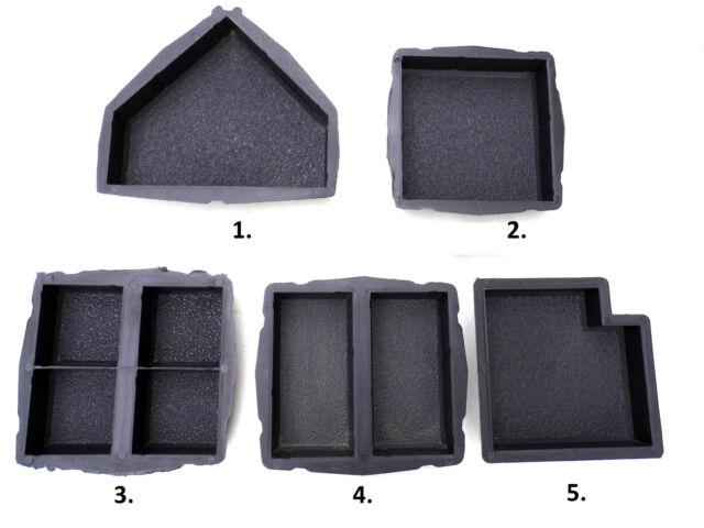 CONCRETE PAVING MOULD-SLAB-BRICK-FLAG - Antique set of 5 moulds or separate