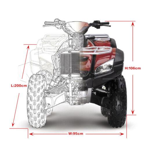 Black Universal Waterproof Quad Bike ATV ATC Rain Cover Size L 200 x95 x106cm