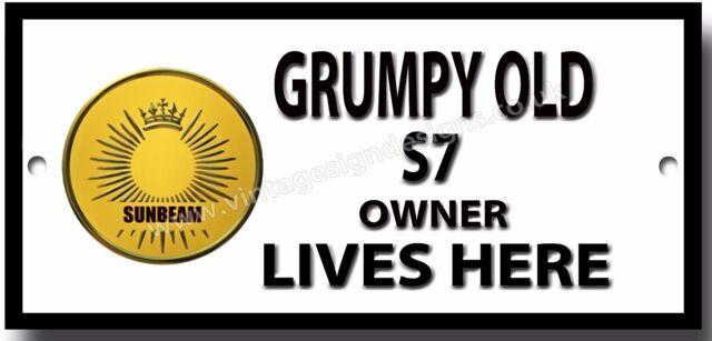 Grumpy Old Royal Enfield 500 Bullet Owner Lives Here Qualit/é M/étal Signe