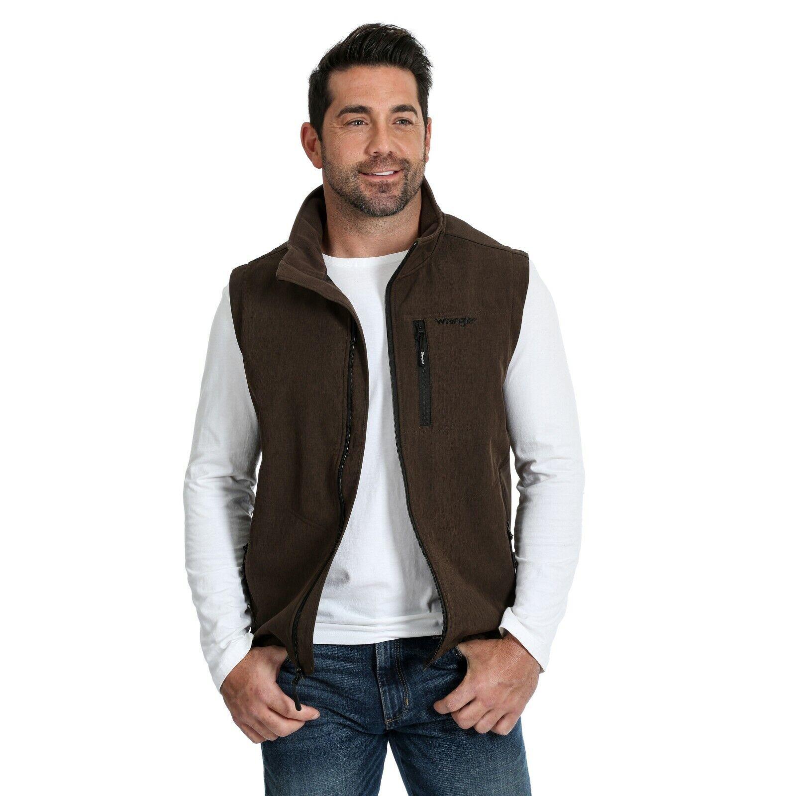 Wrangler  ® para hombre marrón Heather Trail chalecos MJK44BH   ventas de salida