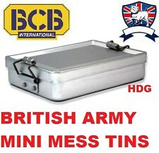 BRITISH ARMY MINI MESS TIN BOX + AIRTIGHT STORAGE TIN SURVIVAL 1st Aid Hike Fish