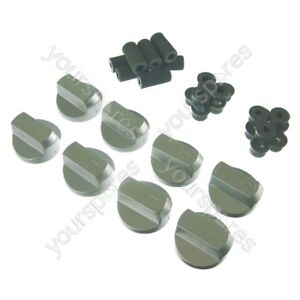 8-X-Stoves-New-World-amp-Belling-Cooker-Oven-Hob-Silver-Control-Knobs