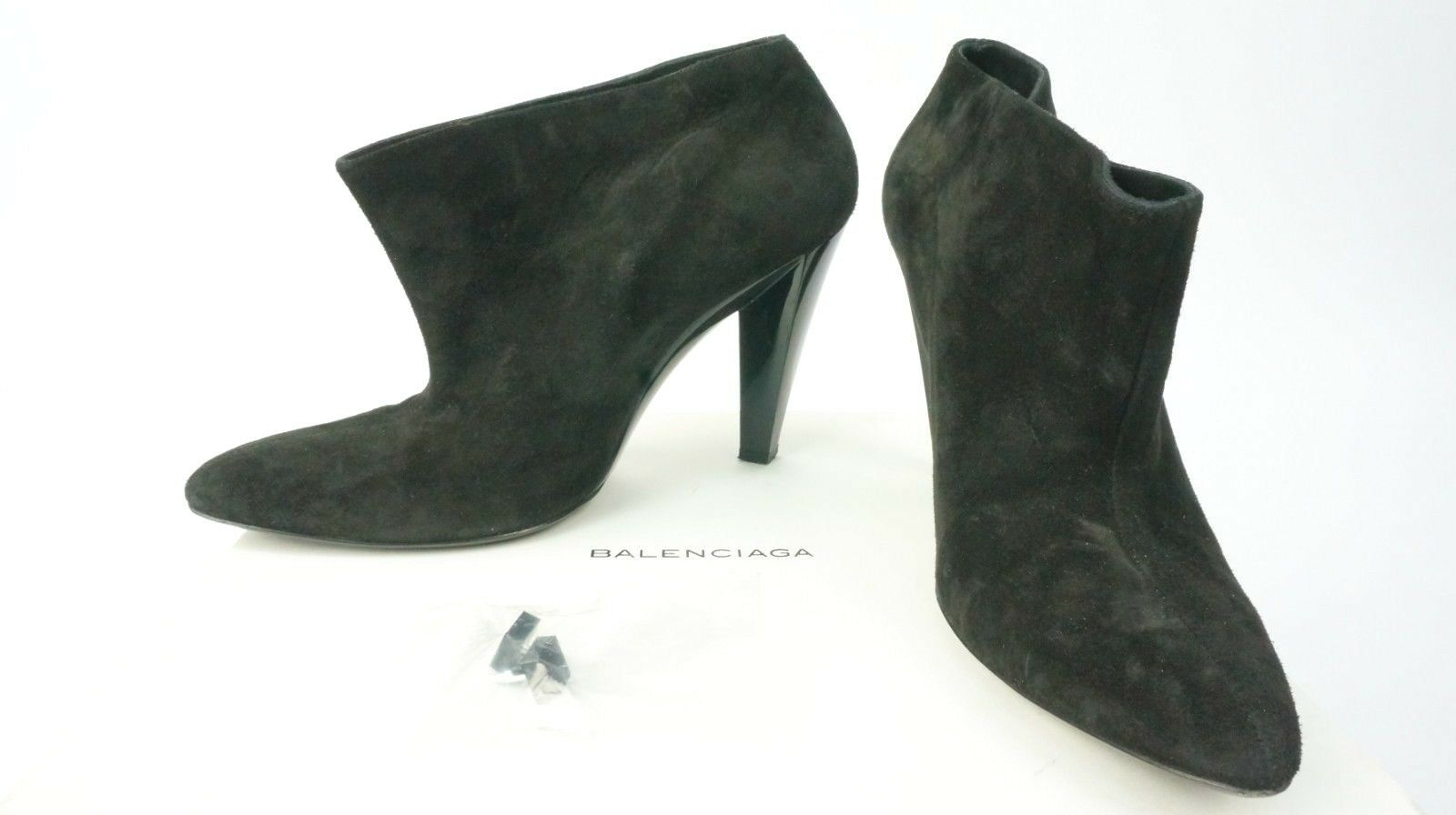Balenciaga Suede110mm Bootie Boots in Black UK 5.5 EU 38.5