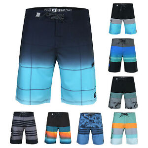 Men-039-s-Beach-Vacation-Fast-Dry-Zip-Pocket-Swimwear-Board-Shorts-With-Stretch