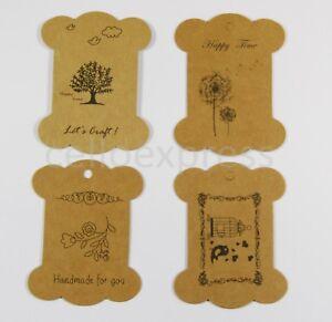 Kraft-Ribbon-Card-Bobbins-Gift-Tags-Wrap-Ribbon-for-Display-Various-Designs