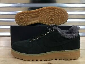 wide range official supplier clearance prices Details about Nike AF1 Air Force 1 PRM Winter Shoes Wool Lined Black Gum  Gray SZ (BV0131-001)