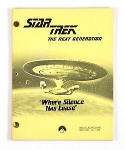 "STAR TREK:TNG ORIGINAL SCRIPT- ""Where Silence Has Lease"" Written by Jack Sowards"