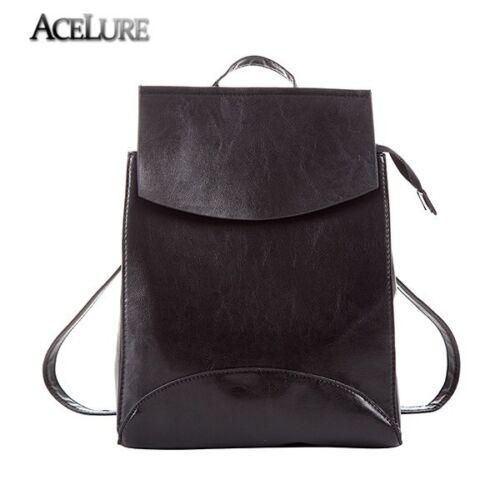 ACELURE New Design PU Leather Backpack Leisure Women Schoolbag Backpacks For