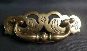 """Vintage Bail Drawer Pulls Brass Color Flower Style KBC  N-12756 5 3/4 """" Large"""