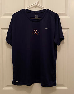 New Virginia UVA Cavaliers Women's Soccer Team Issued Nike Blue T-Shirt 2XL