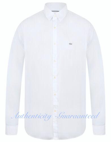 XXL RRP £100 SALE!! LACOSTE Men/'s Long Sleeve Slim Fit Stretch Shirt White S