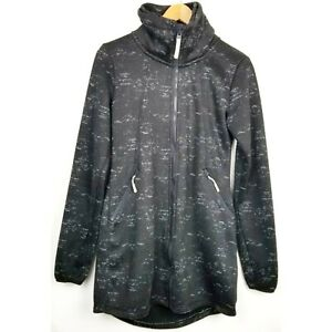 Awesome Details About Bench Womens Jacket Medium Black Gray Full Zip Funnel Neck Polyester Hidden Hood Ibusinesslaw Wood Chair Design Ideas Ibusinesslaworg