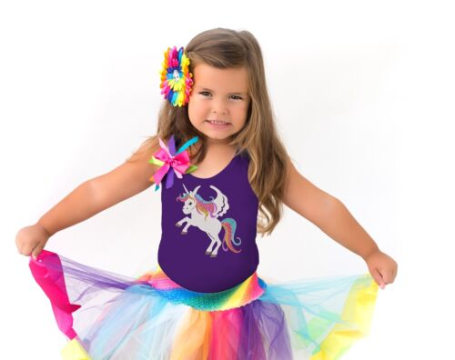 Bubblegum Divas Rainbow Outfit Unicorn Shirt Custom Girls Birthday Party Gift