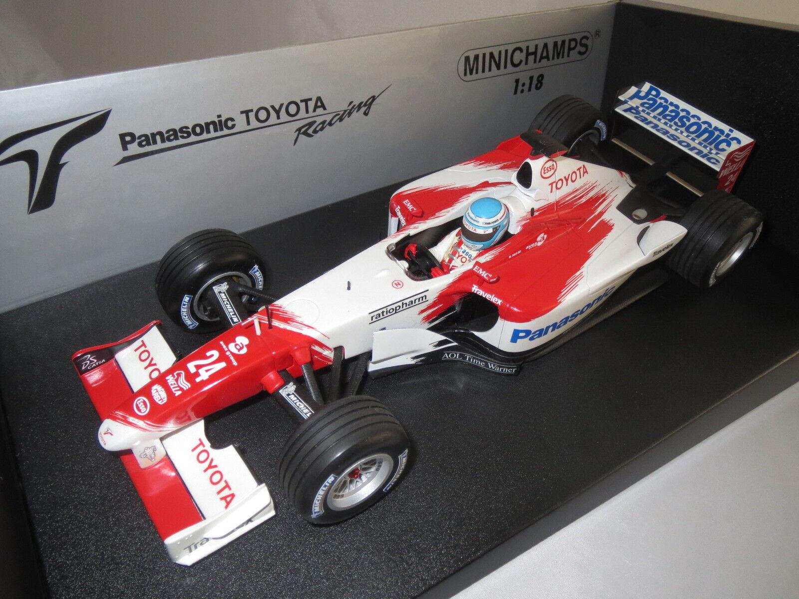 Minichamps Formule 1 panasonic toyota racing tf 102 M. sala  24  2002  1 18 OVP