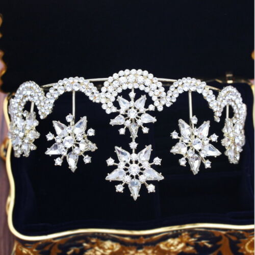 8cm High Large Stars Crystal Wedding Bridal Party Pageant Prom Tiara Crown