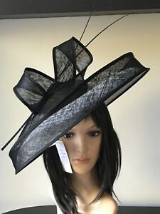 PETER BETTLEY WHITE AND BLACK WEDDING ASCOT HATINATOR HAT MOTHER OF THE BRIDE