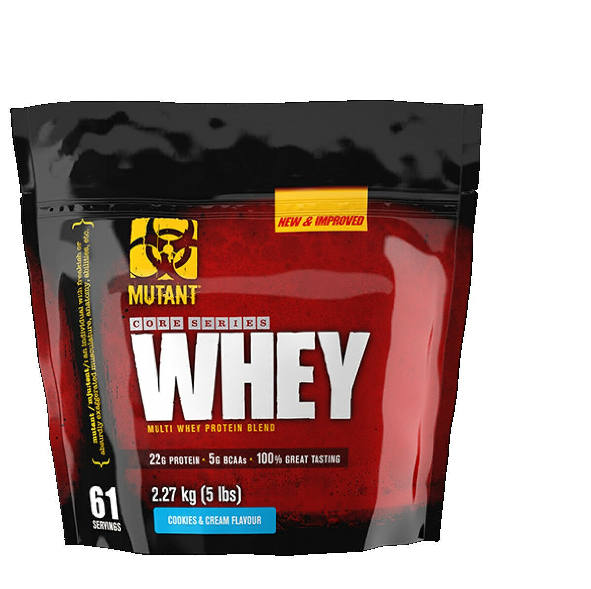 PVL Mutant Whey Protein Powder 2.27kg KG Multi Whey Protein Blend Cookies &